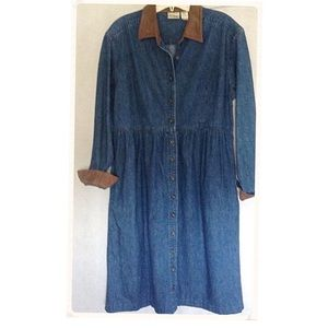 LL BEAN denim dress